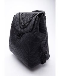 Forever 21 | Black Quilted Faux Leather Roller Bag | Lyst