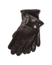 Polo Ralph Lauren - Brown Quilted Racing Gloves - Lyst