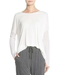 Apres Ramy Brook - White 'daley' Long Sleeve Top - Lyst