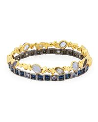 Alexis Bittar | Black Mirrored Pyramid Brake Hinge Bracelet | Lyst