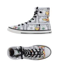 Moschino | White High-tops & Trainers for Men | Lyst