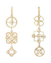 Judy Geib - Metallic Women's Gold Wheel Triple-drop Earrings - Lyst