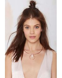 Nasty Gal | Pink Center Divider Howlite Necklace | Lyst
