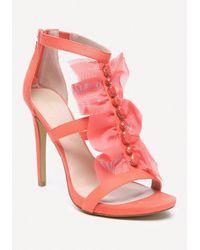 Bebe | Pink Gladyssa Chiffon Sandals | Lyst