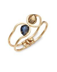 Cara | Metallic Embellished Cuff Bracelet | Lyst
