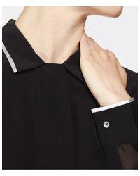 Paul Smith Black Label - Black Silk Contrast Trim Shirt - Lyst