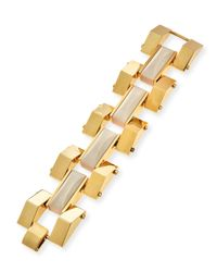 Lele Sadoughi | Natural Sandbar Howlite Link Bracelet | Lyst