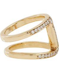 Hoorsenbuhs - Metallic Diamond Gold Dame Phantom Ii Ring - Lyst
