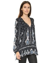 Free People - Black Down By The Bay Dress - Lyst