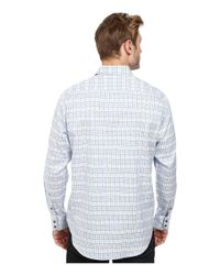 Robert Graham | Blue Eastland Long Sleeve Woven Shirt for Men | Lyst