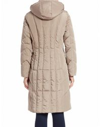 Calvin Klein | Natural Quilted Down Coat | Lyst