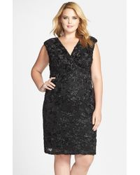 Marina | Black Soutache Embroidered Lace Dress | Lyst