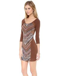Free People - Purple Out Of Africa Long Sleeve Dress - Lyst