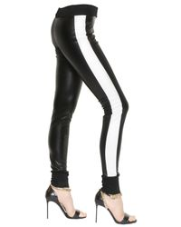 Roberto Cavalli - Black Jogging Faux Leather Pants - Lyst