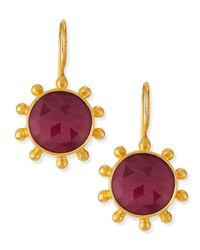 Dina Mackney | Red Ruby Pinwheel Earrings | Lyst