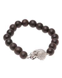 Luis Morais | Brown Stretchy Skull Bracelet | Lyst