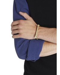 Miansai | Metallic Brushed Gold Tone Bangle | Lyst