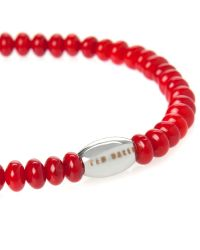 Ted Baker - Red Beaded Bracelet for Men - Lyst