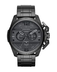 DIESEL | Black Diesel 'ironside' Chronograph Watch for Men | Lyst