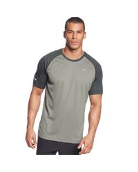 Nike - Gray Miler Drifit Performance Tshirt for Men - Lyst
