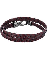 Tod's - Red Leather Wrap Bracelet for Men - Lyst