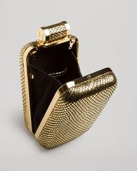 Halston - Metallic North / South Cell Phone Minaudiere - Gold - Lyst