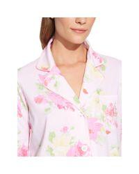 Ralph Lauren - Pink Floral Capri Pajama Set - Lyst