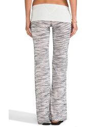 Tylie - Pink Wide Leg Space Dyed Knit Pants in Gray - Lyst