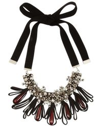 Marni | Black Crystal and Horn Necklace | Lyst