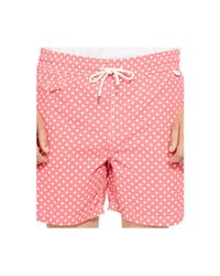 Polo Ralph Lauren - Pink Traveler Dotted Swim Shorts for Men - Lyst