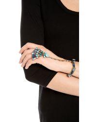 DANNIJO - Blue Leandra Hand Chain Bracelet - Lyst