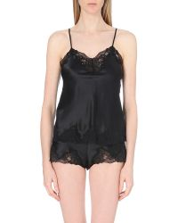 Nk Imode - Black Morgan Stretch-lace And Silk-satin Camisole - Lyst