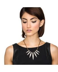 Lulu Frost - Metallic Datura Spike Necklace - Lyst