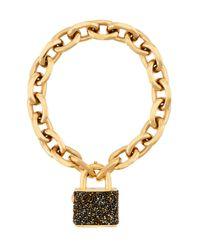 Henri Bendel | Brown Jetsetter Padlock Bracelet | Lyst