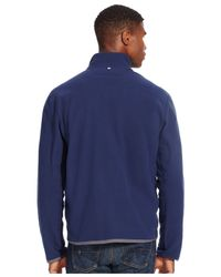 Polo Ralph Lauren - Blue Microfleece Track Jacket for Men - Lyst
