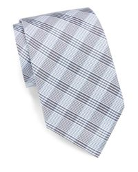 English Laundry - Blue Silk Plaid Tie for Men - Lyst