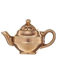 Annina Vogel | Metallic Vintage Gold Teapot Charm | Lyst