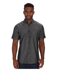 Brixton | Black Central S/s Woven for Men | Lyst