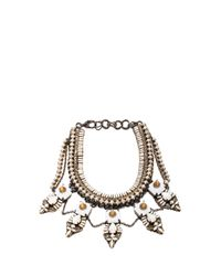 Erickson Beamon - White Weeping Angels Necklace - Lyst