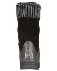 BEARPAW | Black Serena Lace-up Cold Weather Hiking Booties | Lyst