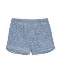 Derek Rose - Blue Dixie Geo-print Cotton Boxers for Men - Lyst