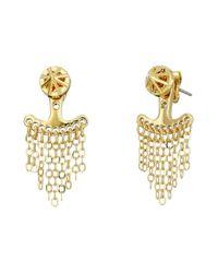 Rebecca Minkoff   Metallic Acorn Crystal Threader Earrings   Lyst