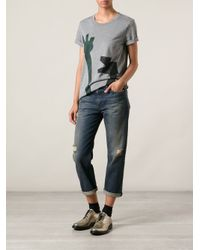 Acne Studios - Gray 'Vista Flower' Tee - Lyst