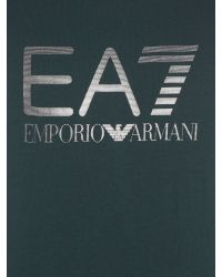 EA7 | Green Logo Crew Neck Regular Fit T-shirt for Men | Lyst