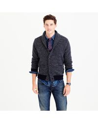 J.Crew | Blue Slim Marled Lambswool Sweater for Men | Lyst