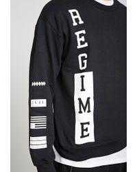 Forever 21 - Black Civil Regime Crew Neck Sweatshirt for Men - Lyst