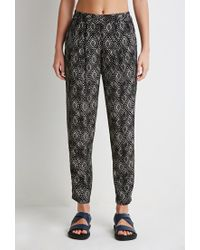 Forever 21 | Black Diamond Print Harem Pants | Lyst