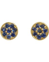 Jennifer Meyer | Metallic Circular Stud Earrings | Lyst