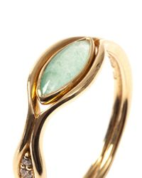 Fernando Jorge - Diamond, Green-Quartz & Gold Fluid Ring - Lyst