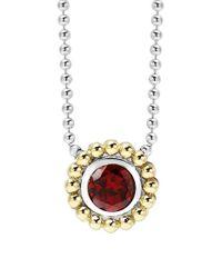 Lagos - Purple Stone Pendant Necklace - Lyst